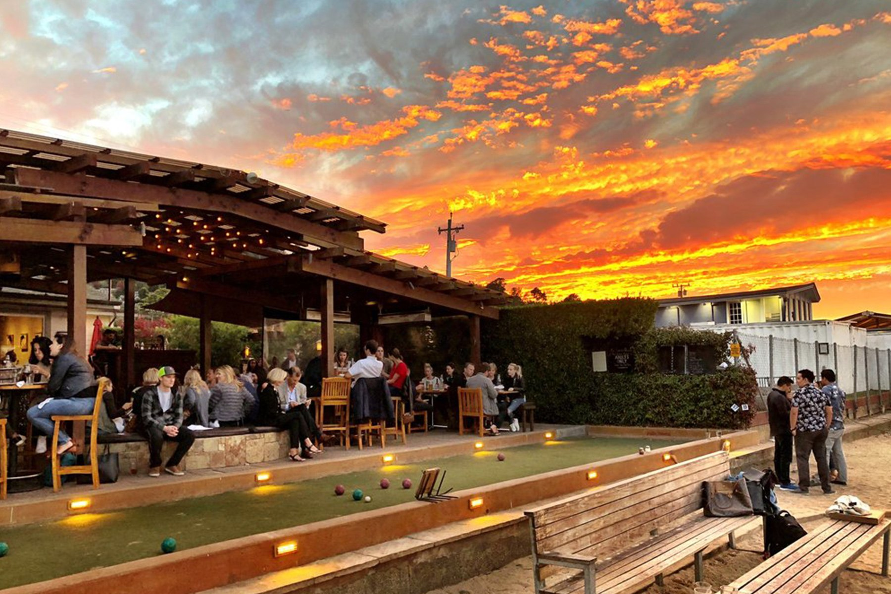 Bar Bocce courts at Sunset
