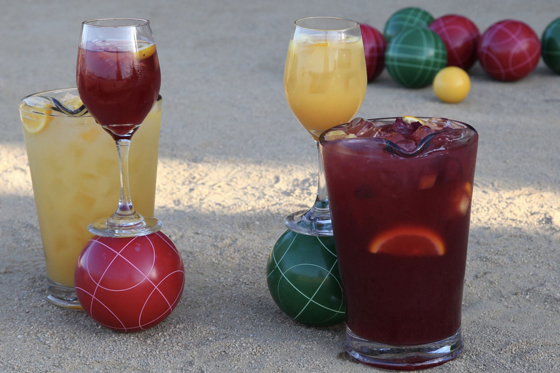 sangria on the bocce court