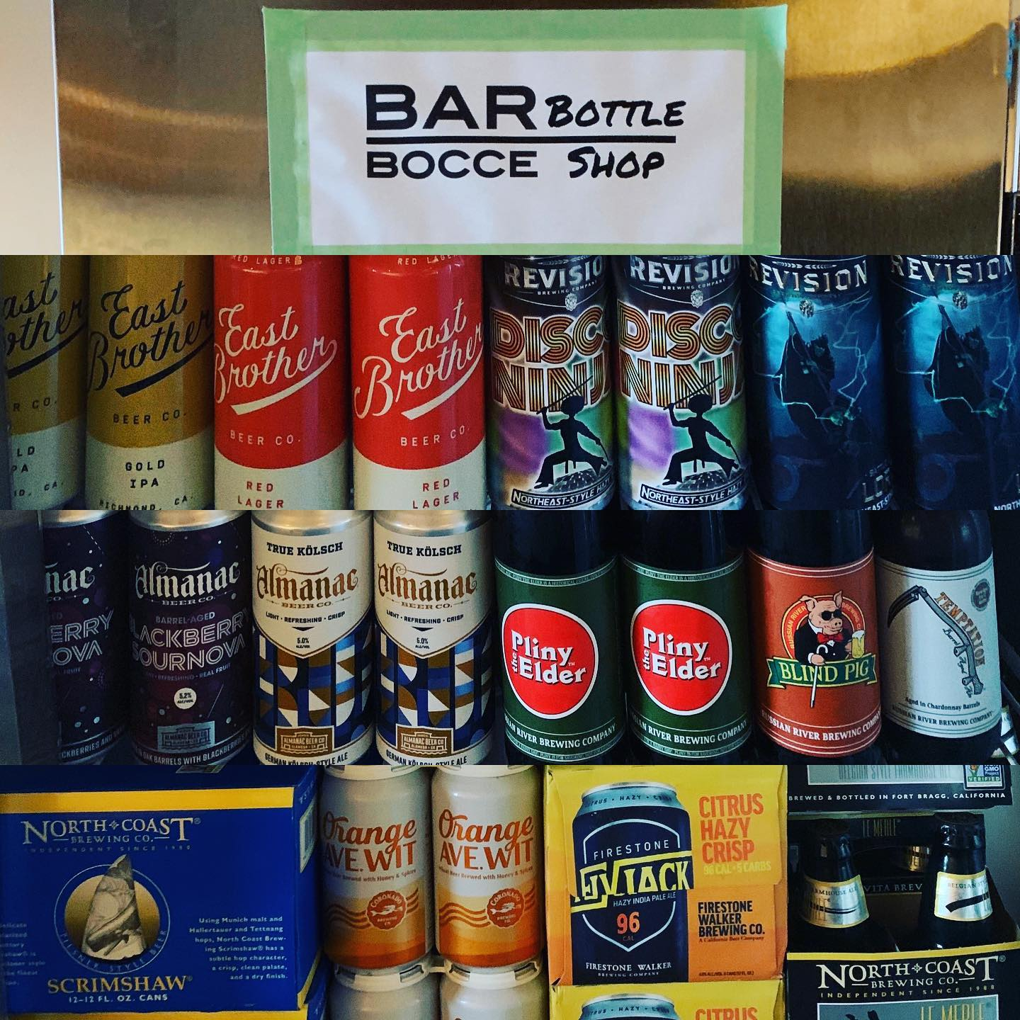 Bar bocce bottle shop